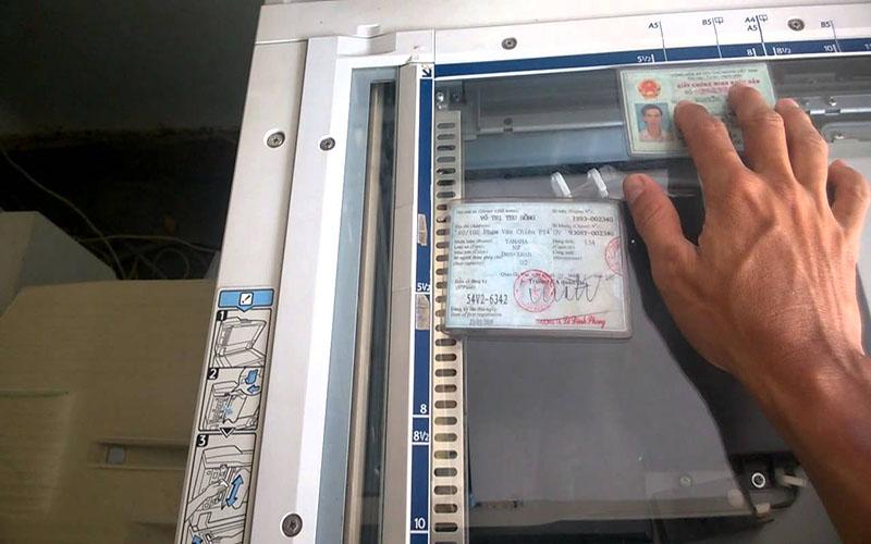Hướng dẫn photocopy CMND