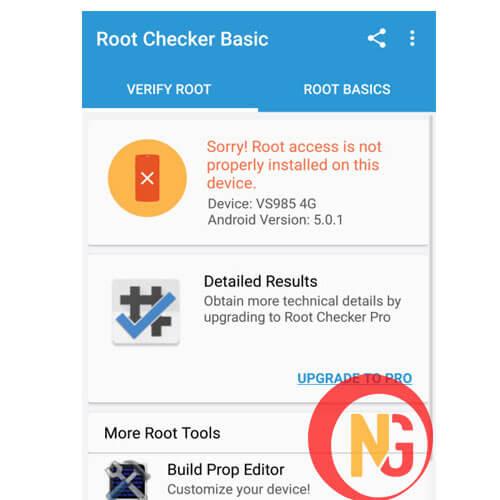 Dùng Root Check để kiểm tra