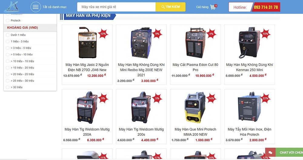 Thiết Bị Khang An - địa chỉ cung cấp thiết bị cơ khí chính hãng