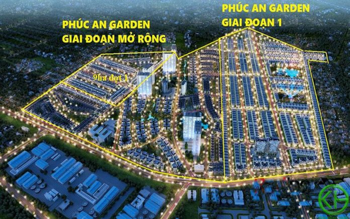 Quy mô dự án Phúc An Garden giai đoạn 2 mở rộng